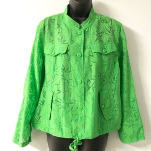 Ruby Rd. Jacket Green Lightweight size 14